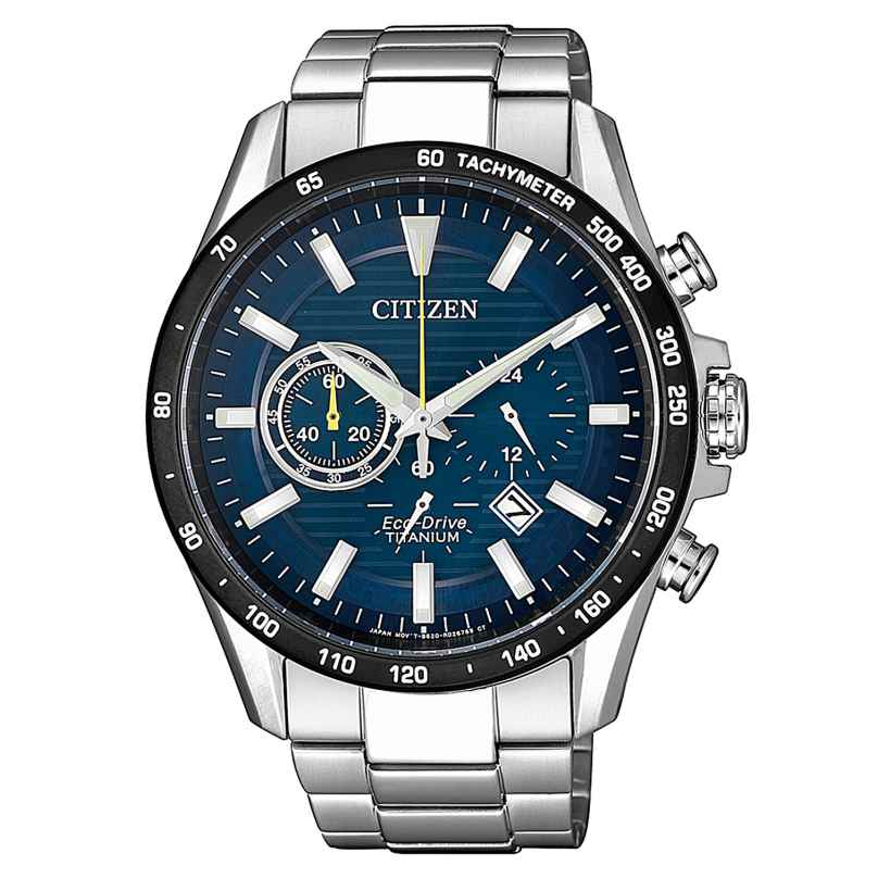 Citizen CA4444-82L Herren-Armbanduhr Eco-Drive Chronograph Titan 4974374288202