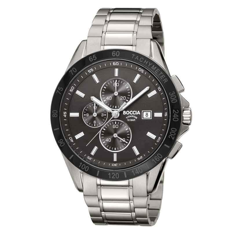 Boccia 3751-02 Titan Chronograph Herrenuhr 4040066234465