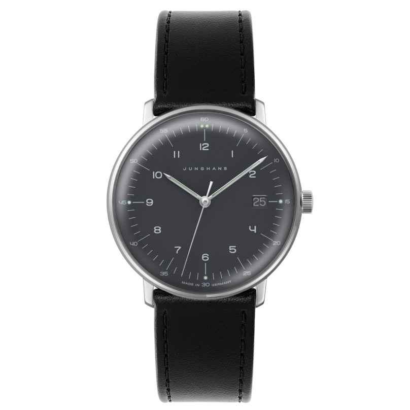 Junghans 041/481-Schwarz max bill Quarz Armbanduhr mit Wechselband 4260497089544