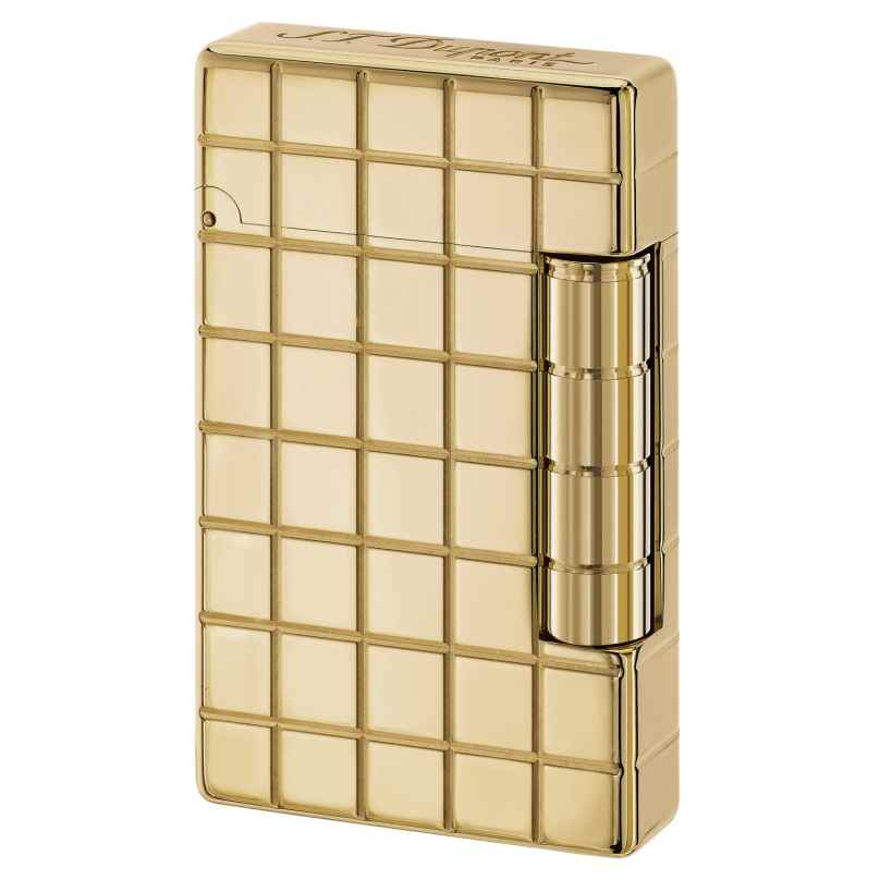 S.T. Dupont 020801 Feuerzeug Initial Quadrillage Gold 3597390230034