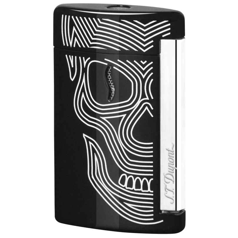 S.T. Dupont 010511 Minijet Lighter Skulls Noir 3597390235329