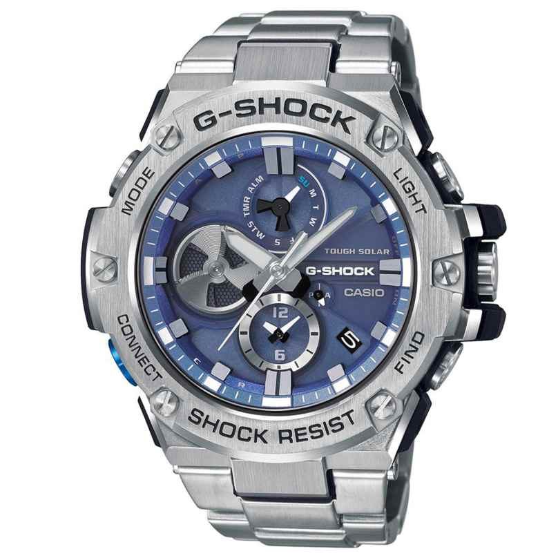 Casio GST-B100D-2AER G-Shock G-Steel Solar-Herrenuhr mit Bluetooth 4549526211225