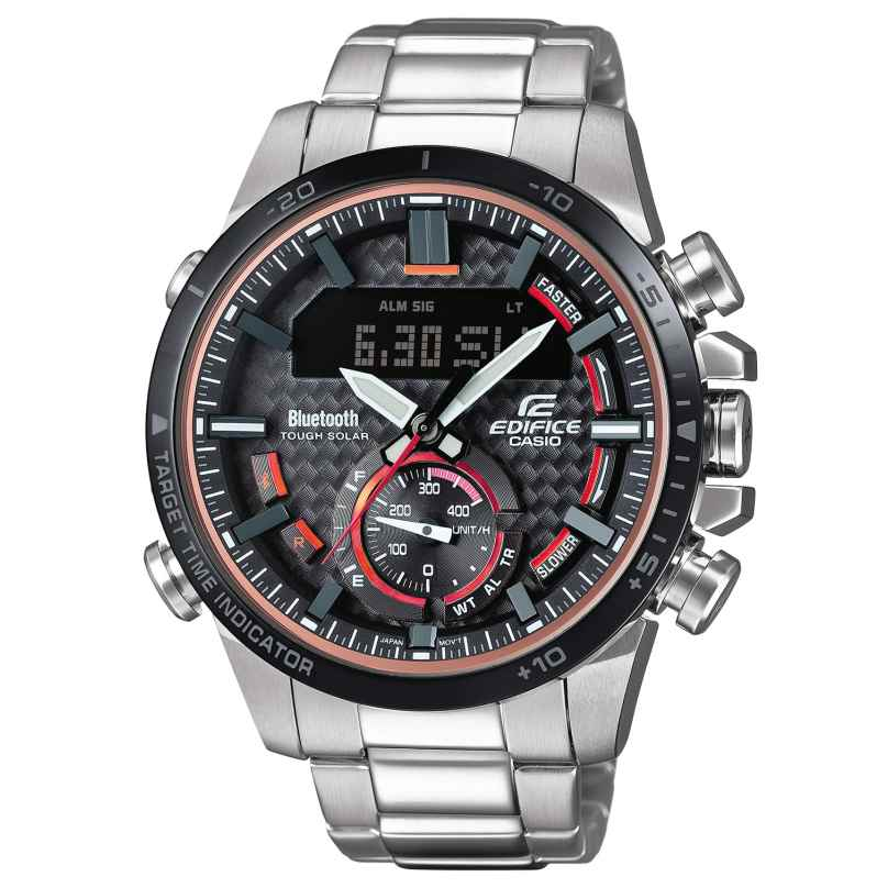 Casio ECB-800DB-1AEF Edifice Herren-Chronograph Solaruhr Bluetooth 4549526199813
