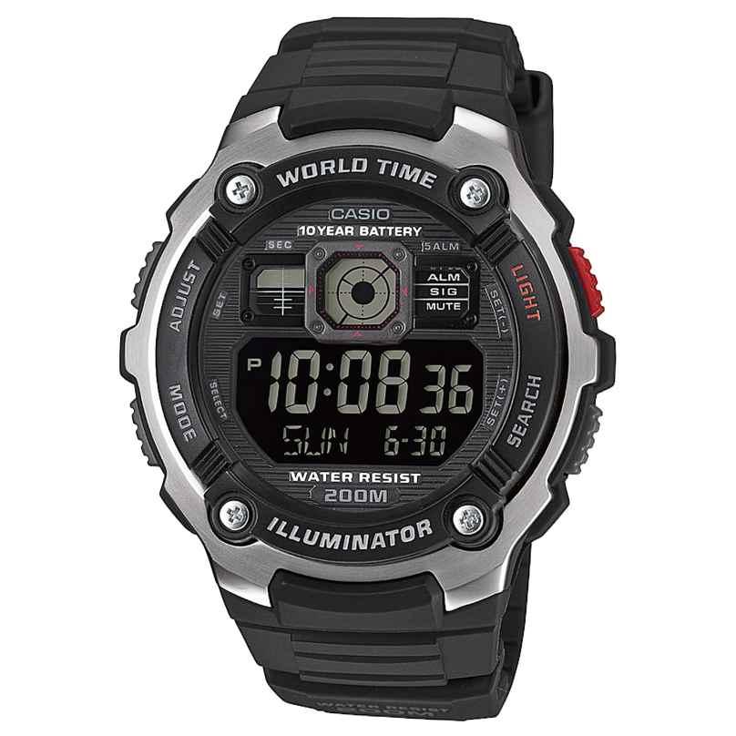 Casio AE-2000W-1BVEF Digitaluhr 20 Bar Wasserdicht 4549526174346