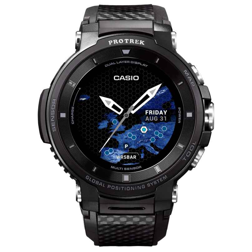 Casio WSD-F30-BKAAE Pro Trek Smart Outdoor-Uhr GPS Schwarz 4549526850530