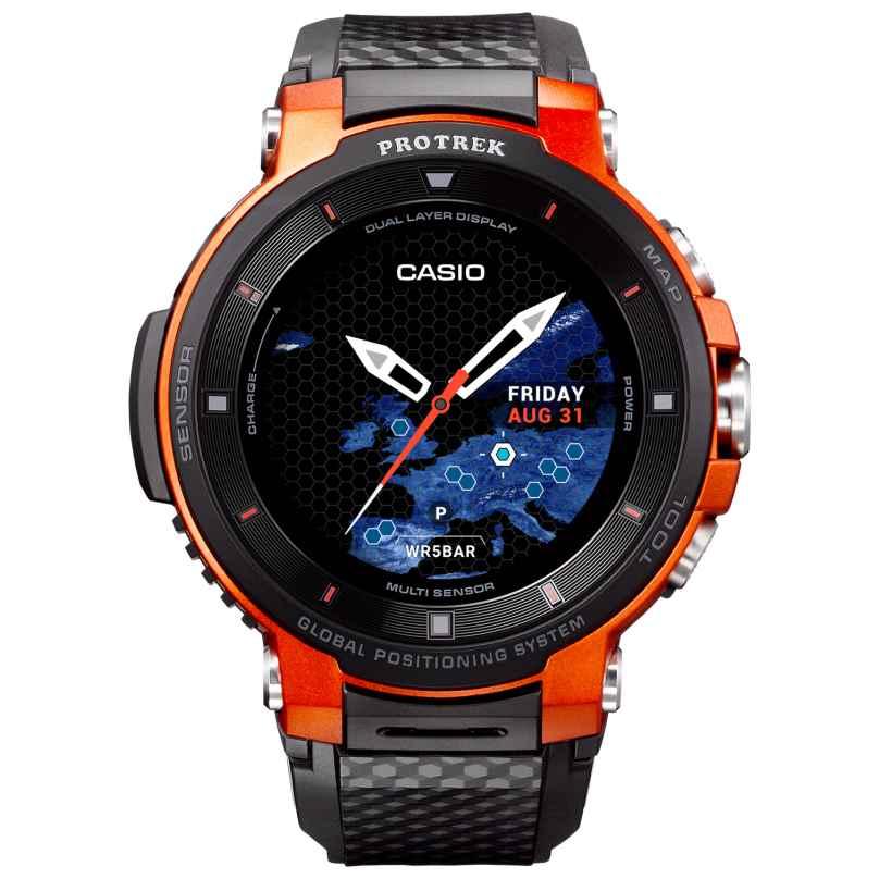 Casio WSD-F30-RGBAE Pro Trek Smart Outdoor-Uhr GPS Rot/Schwarz 4549526850547