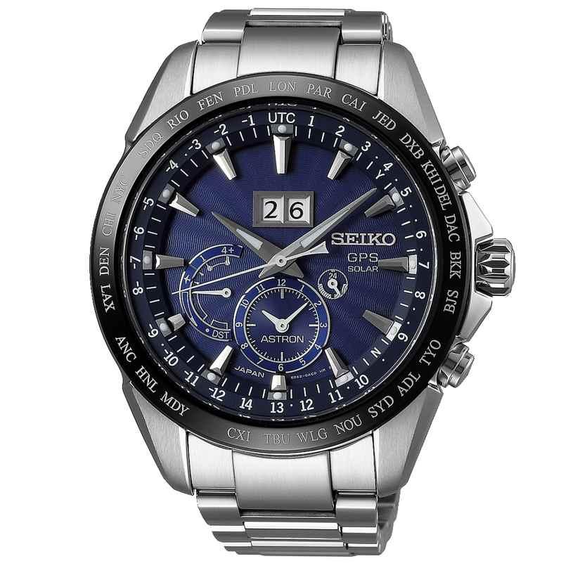 Seiko SSE147J1 Astron GPS Solar Dual Time Big Date Herrenuhr 4954628214393