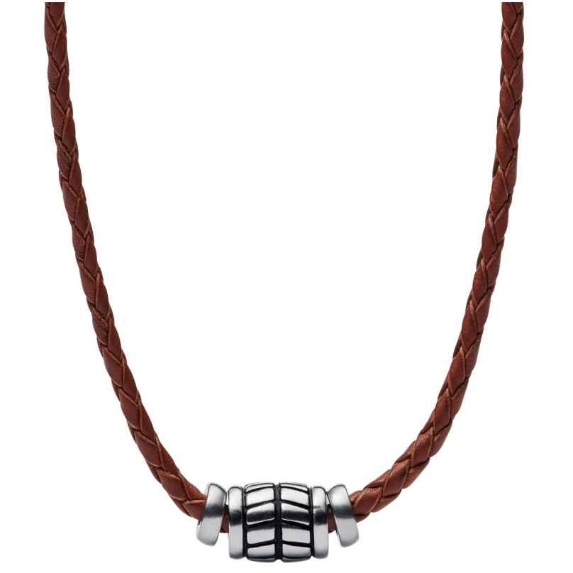 Fossil JF02687040 Herren Leder-Halskette Vintage Casual 4053858859890