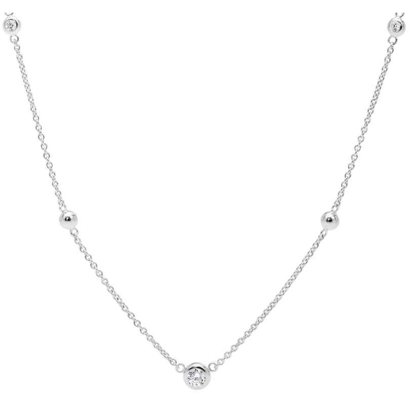 Fossil JFS00453040 Damen Silber-Halskette Glitz 4013496133073