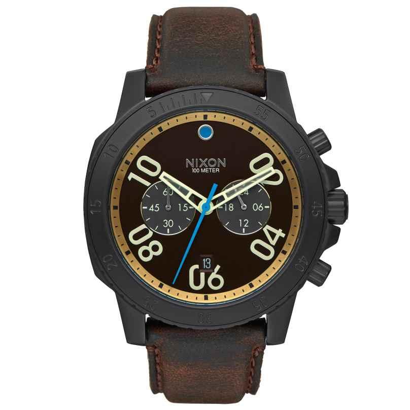 Nixon A940 2209 Ranger Chrono Leather Black Herrenuhr 3608700663449