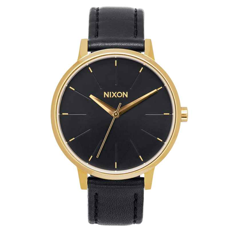 Nixon A108 513 Kensington Leather Gold/Black Damenuhr 3608700640549