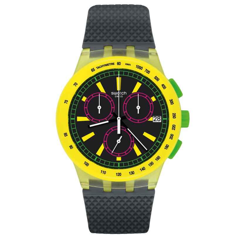 Swatch SUSJ402 Chronograph Armbanduhr YEL-LOL 7610522778894