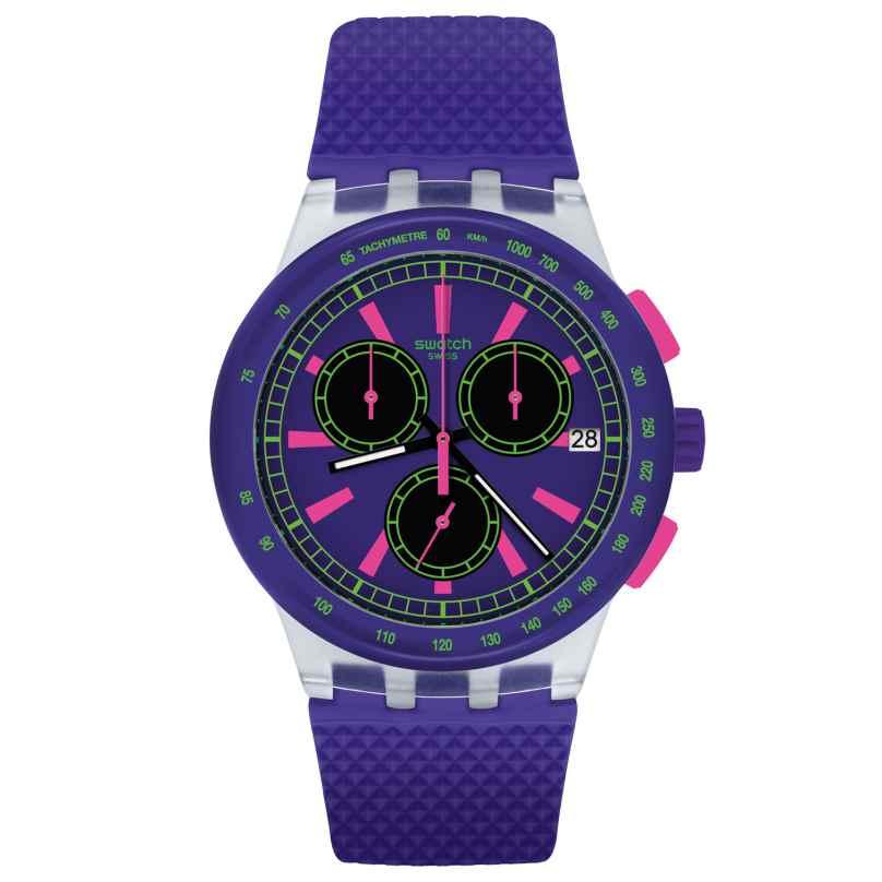 Swatch SUSK400 Chronograph Armbanduhr Purp-Lol 7610522778900