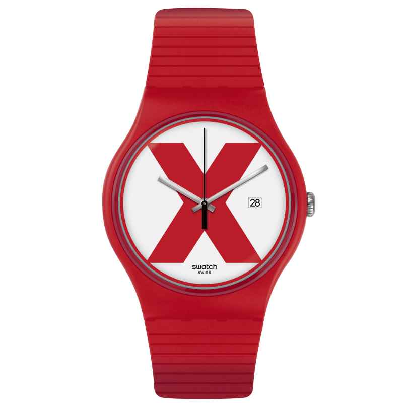 Swatch SUOR400 Herren-Uhr XX-Rated Red 7610522780644
