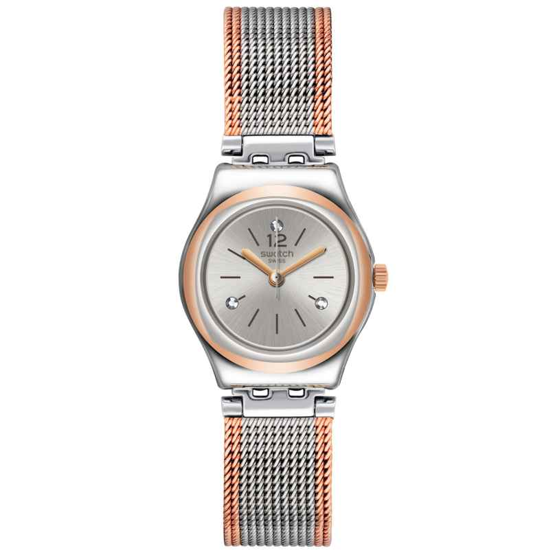 Swatch YSS327M Damenarmbanduhr Full Silver Jacket 7610522799165