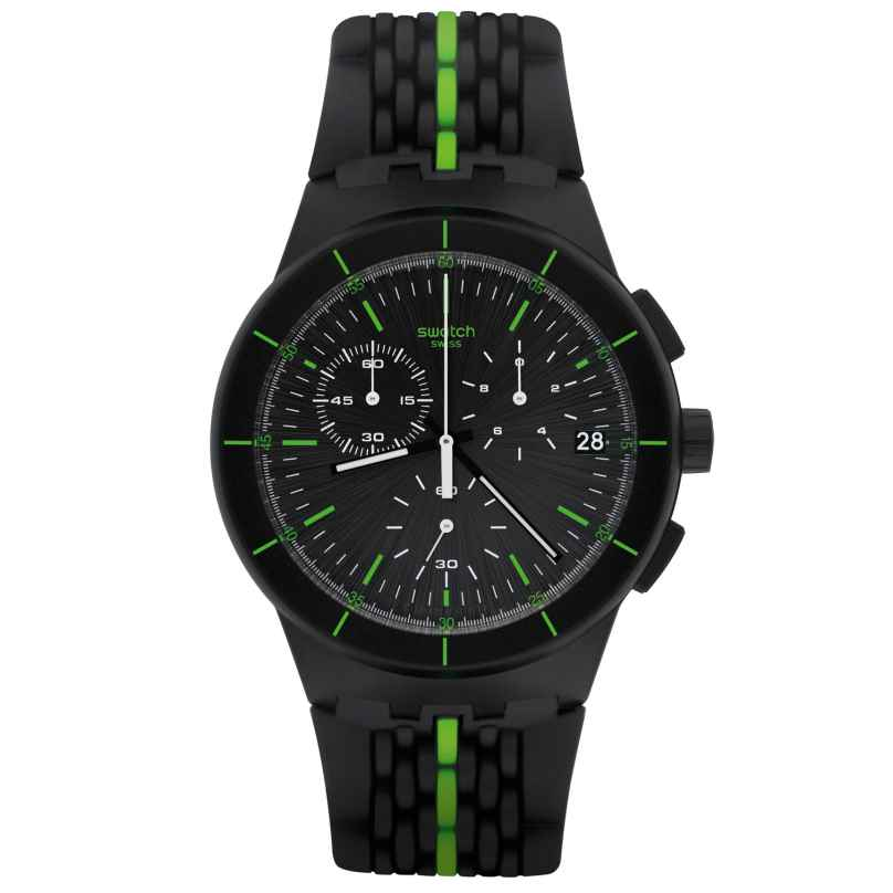 Swatch SUSB409 Laser Track Herrenuhr Chronograph 7610522750258