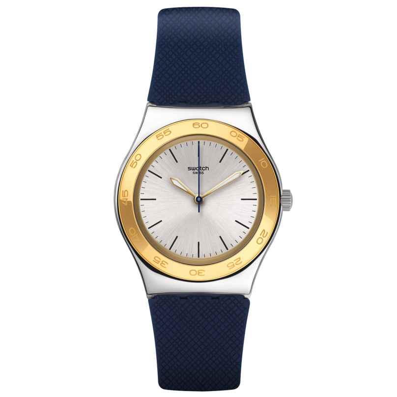 Swatch YLS191 Irony Medium Blue Push Damenuhr 7610522569577