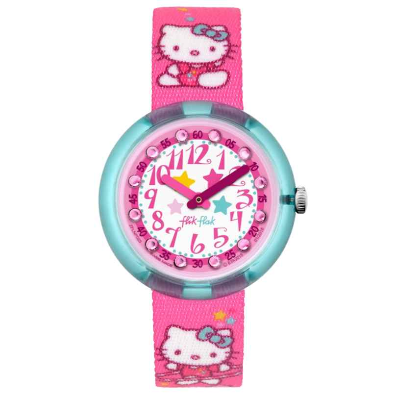 Flik Flak FLNP025 Hello Kitty Gym Kinderuhr-Set 7610522533547