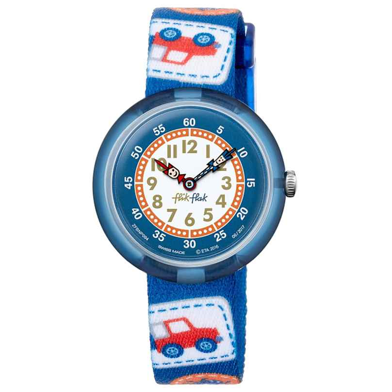 Flik Flak FBNP094 Kinderuhr Camping Badge Blue 7610522535183