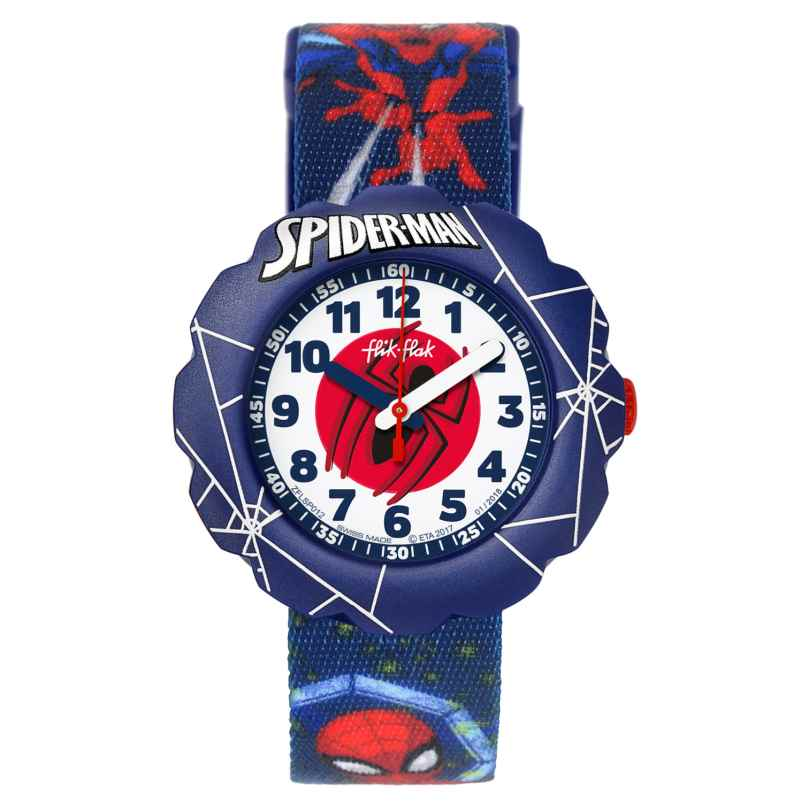 Flik Flak FLSP012 Kinderuhr Spider-Man In Action 7610522774544