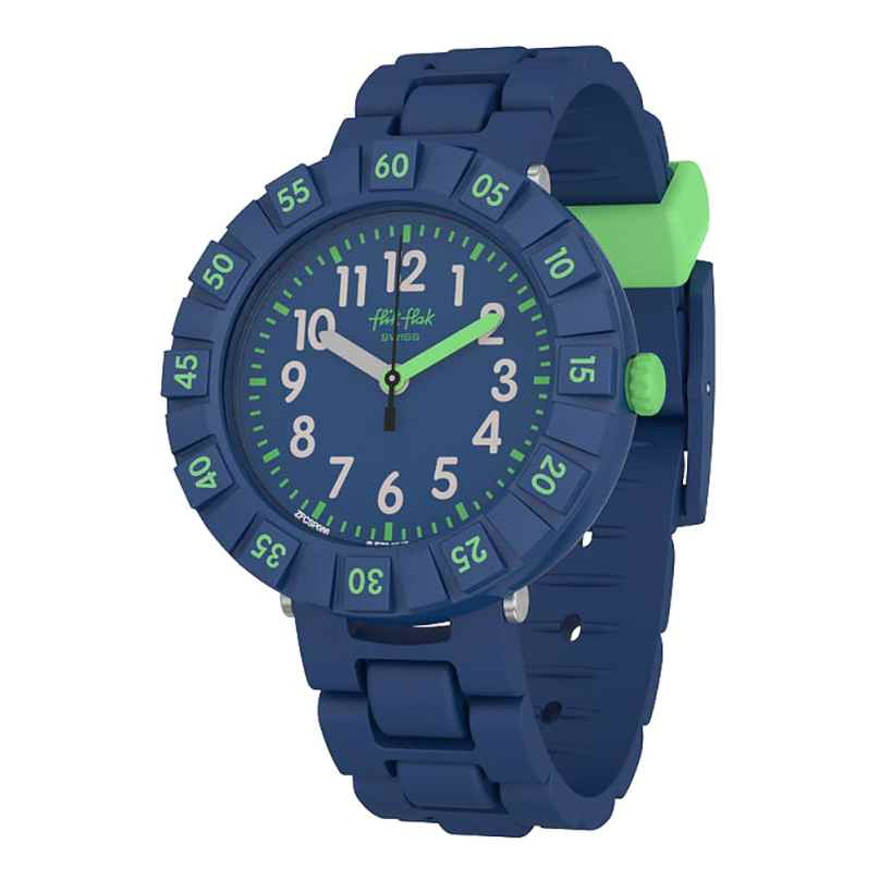 Flik Flak FCSP086 Kinder-Armbanduhr Solo Dark Blue 7610522795778