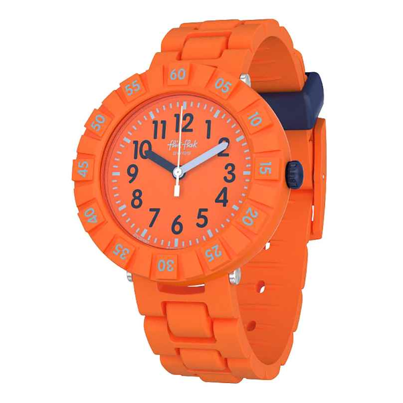 Flik Flak FCSP087 Kinderuhr Solo Orange 7610522795754
