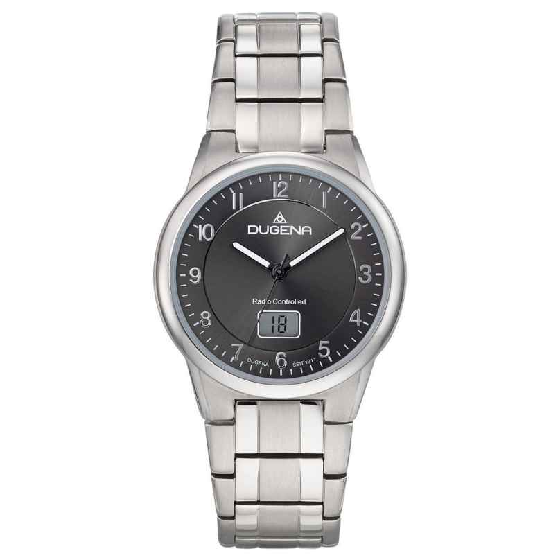 Dugena 4460835 Men's Radio-Controlled Watch Titanium 4250645009609