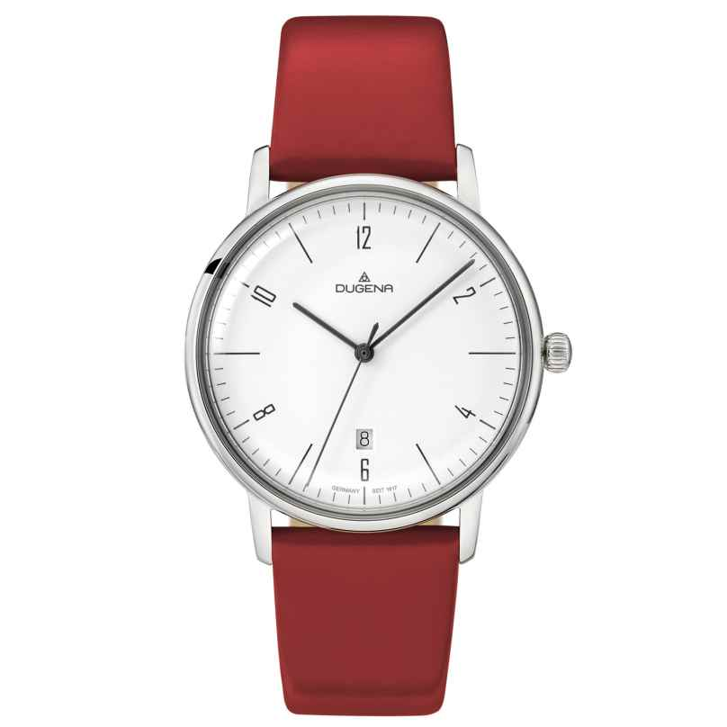 Dugena 4460784 Ladies Watch Dessau Color Red 4250645009050