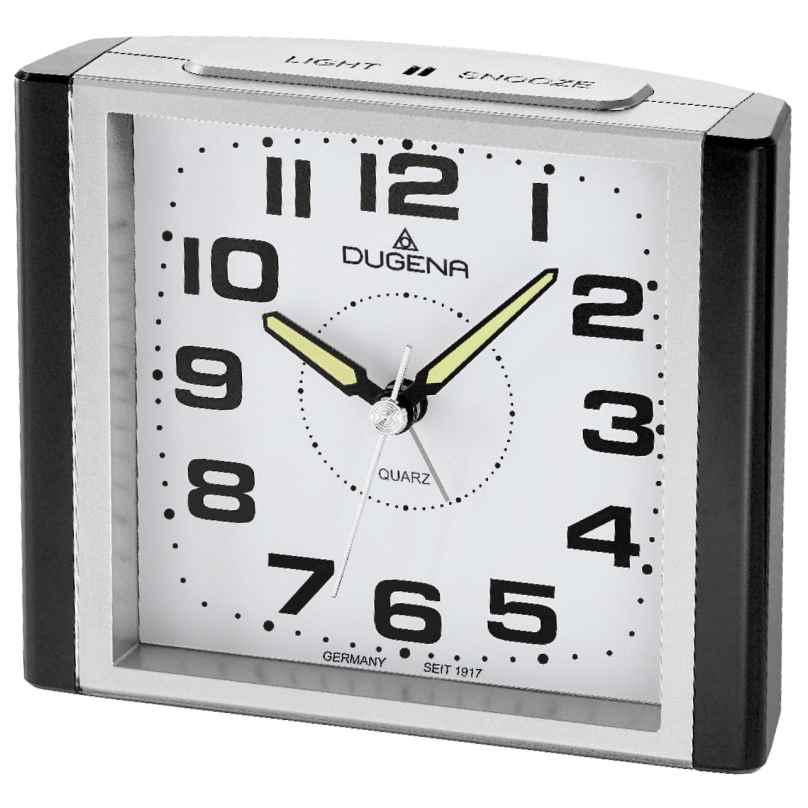 Dugena 4460593 Alarm Clock with Sweep Second Hand and Snooze 4250645006837
