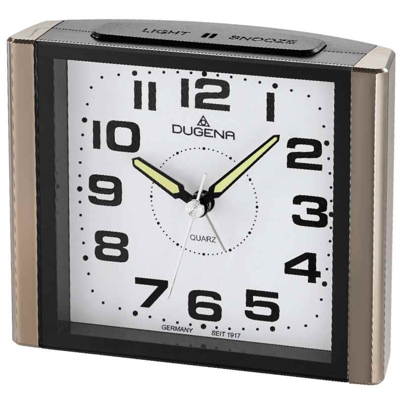 Dugena 4460595 Alarm Clock with Sweep Second Hand and Snooze 4250645006851