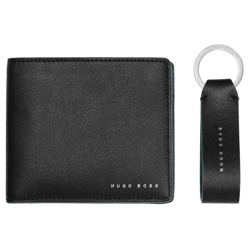 Boss 50397501 Geschenk-Set für Herren Geldbörse und Schlüsselanhänger 4029048027912