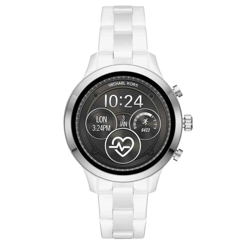 Michael Kors Access MKT5050 Damen-Smartwatch Runway Keramik Weiß 4013496056044