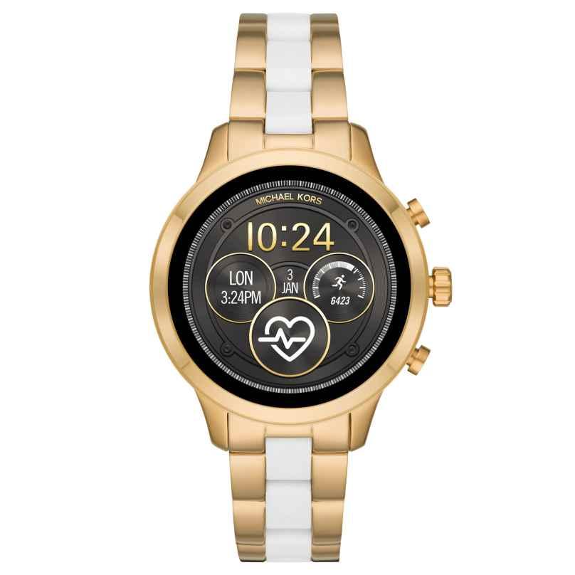 Michael Kors Access MKT5057 Damenuhr Smartwatch Runway Goldfarben/Weiß 4013496262186