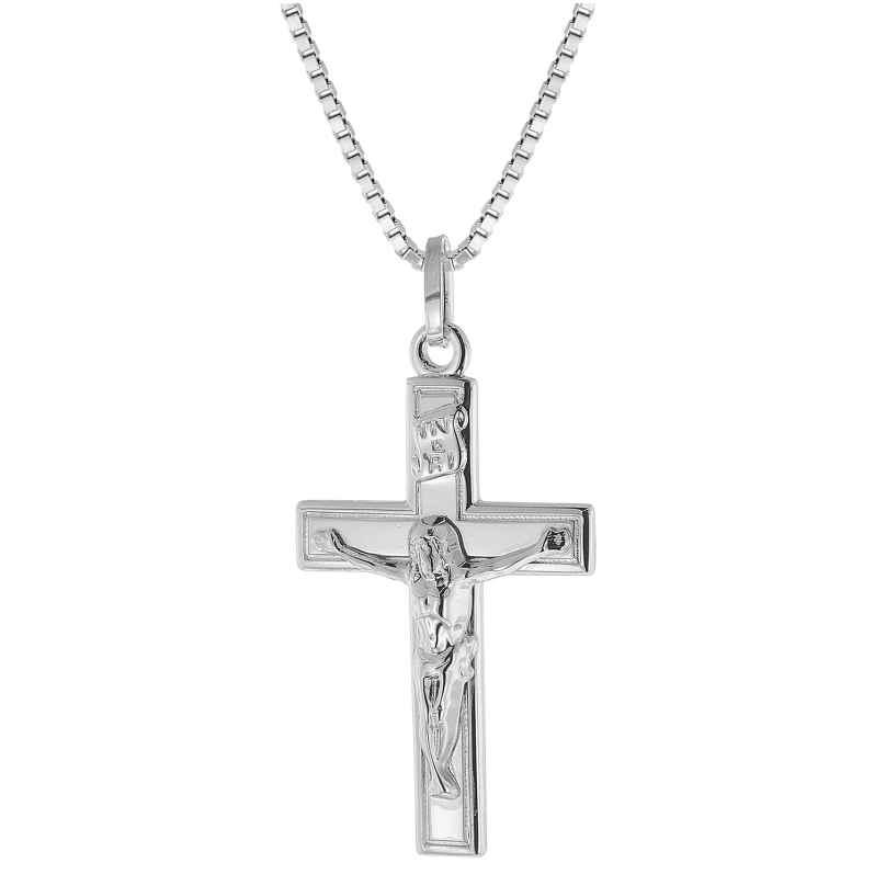 trendor 48924 Silber-Halskette mit Kreuz-Anhänger 4260143748924