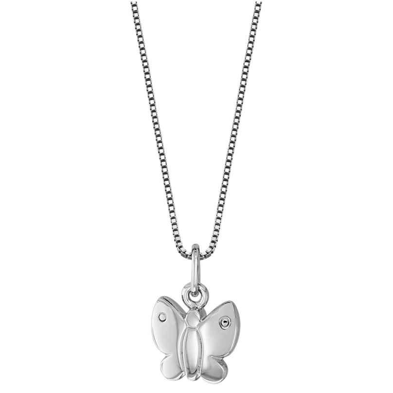 trendor 49112 Silber Kinder-Halskette Schmetterling 4260143749112