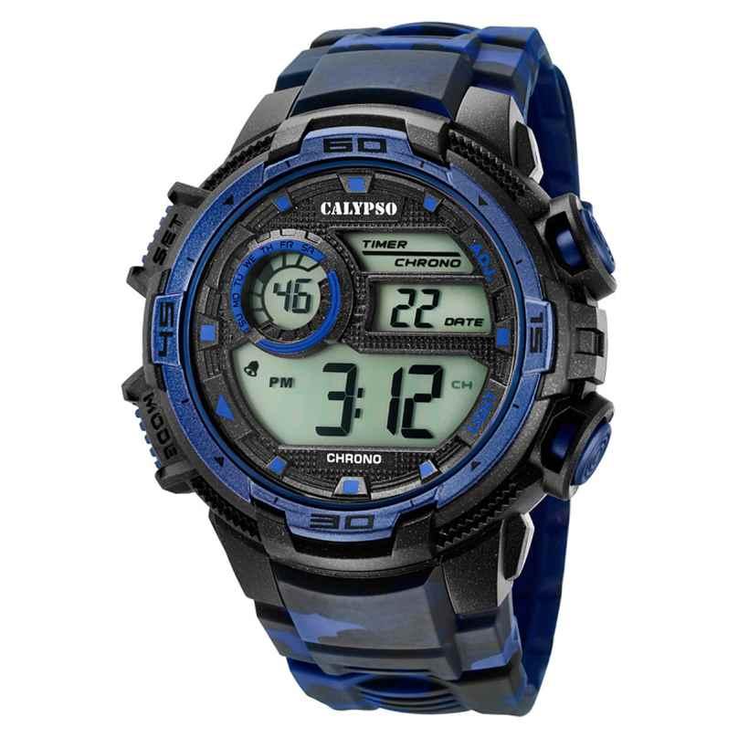 Calypso K5723/1 Digital Herrenuhr Schwarz/Dunkelblau 8430622676062