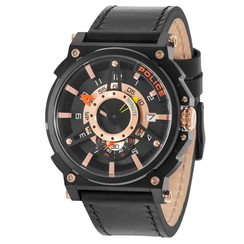 Police PL15048JSB.02 Herrenuhr Compass Black/Rose 4895148680445