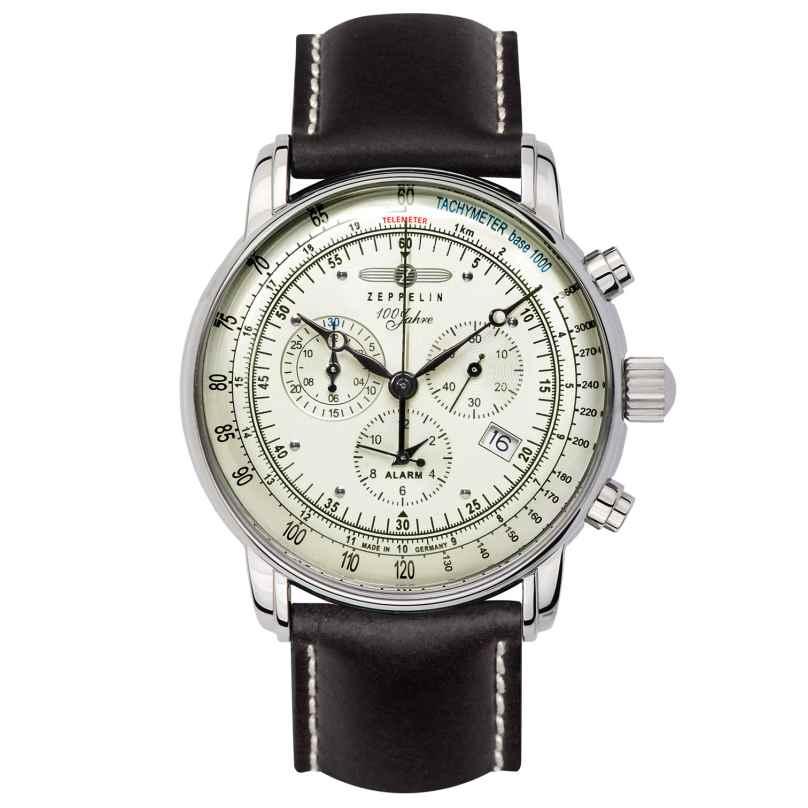 Zeppelin 8680-3 Men's Alarm Chronograph 100 Jahre Zeppelin 4041338868036