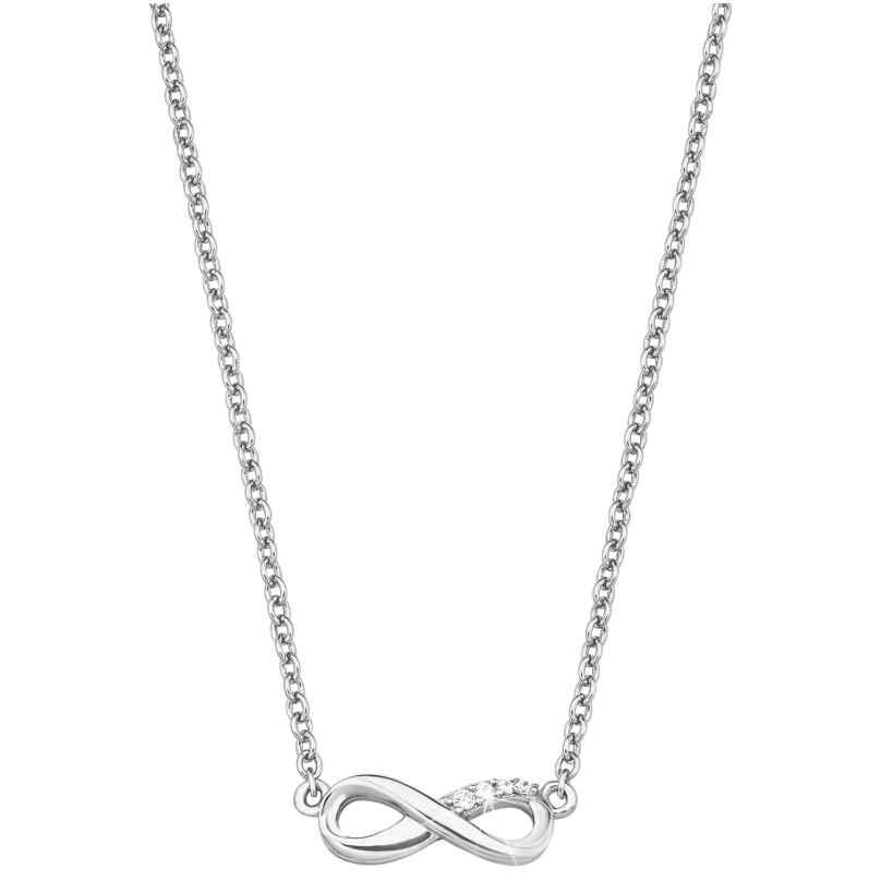 s.Oliver 2017245 Silber Damen-Halskette Unendlichkeit 4056867004619