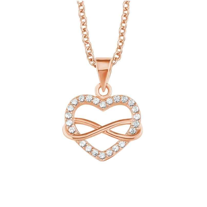 s.Oliver 2020988 Damen-Halskette Unendliche Liebe Rosé 4056867010009