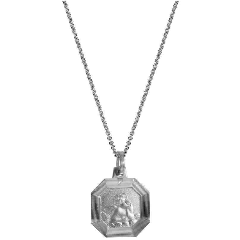 trendor 63942 Silber-Halskette mit Amor-Anhänger 4260227763942
