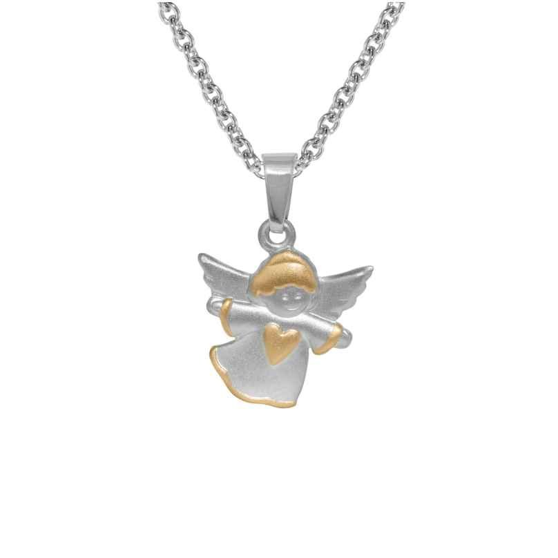 trendor 72795 Silber Kinder-Halskette mit Engel-Anhänger 4260333972795