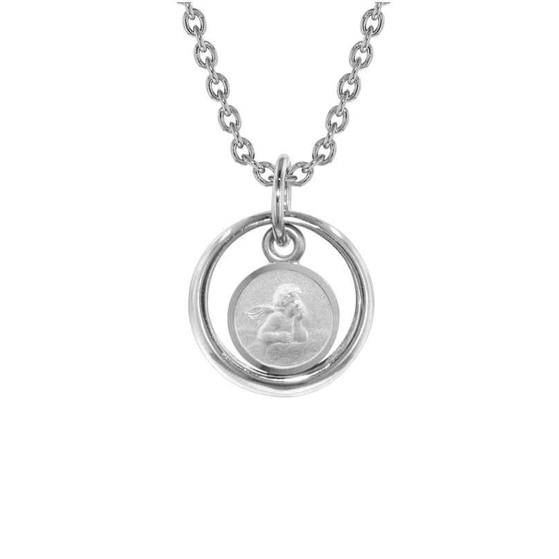 trendor 73259 Silber-Halskette Taufring mit Engel 4260333973259