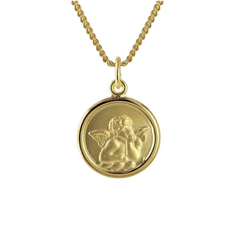 trendor 73426 Gold Engel-Anhänger für Kinder an 40 cm goldplattierter Kette 4260333973426