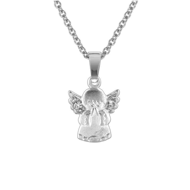 trendor 78599 Silberkette mit Engel für Kinder 4260333978599