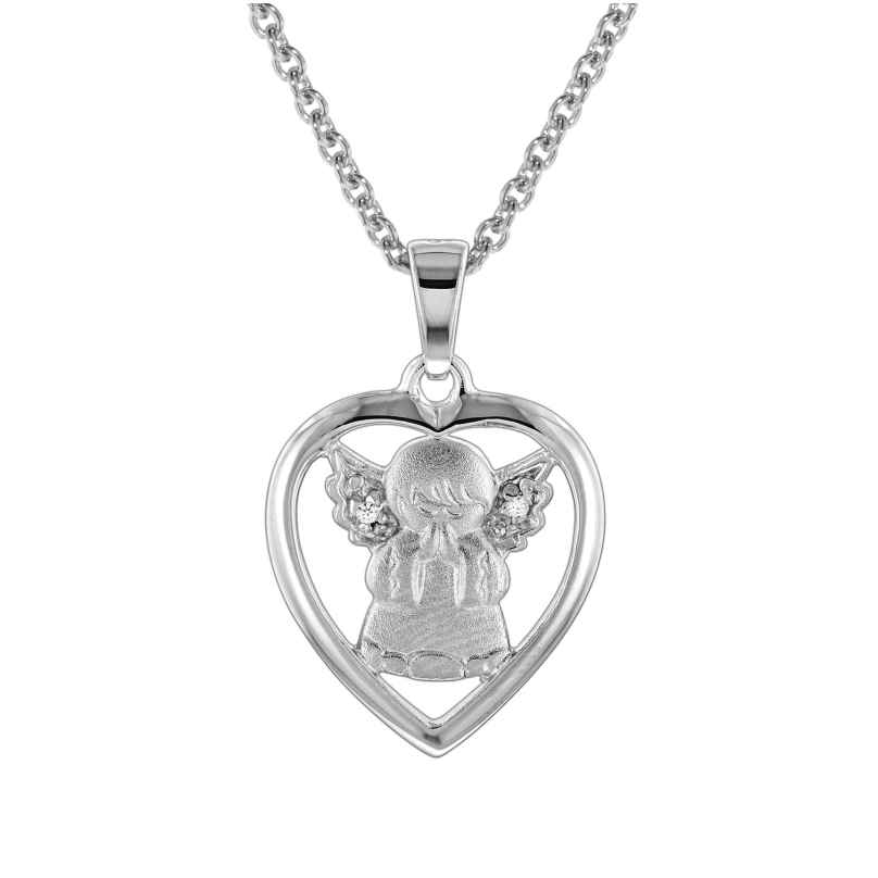 trendor 78629 Silber-Halskette mit Schutzengel-Anhänger für Kinder 4260333978629