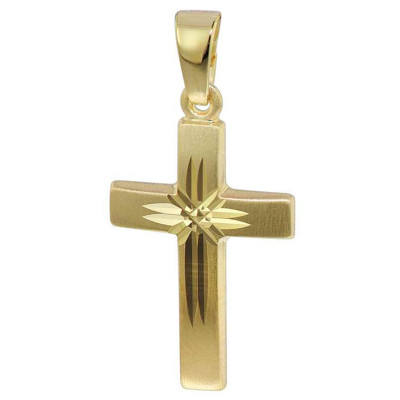 trendor 35743 Kreuz-Anhänger Gold 333 4260435357438