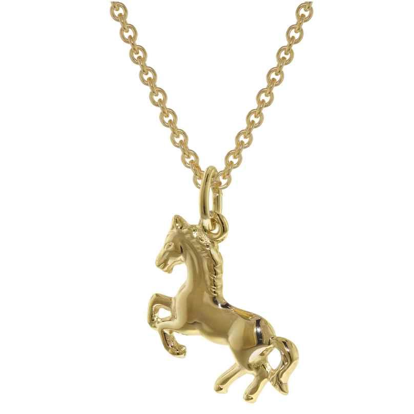 trendor 35808 Gold Anhänger Pferd für Mädchen 4260435358084