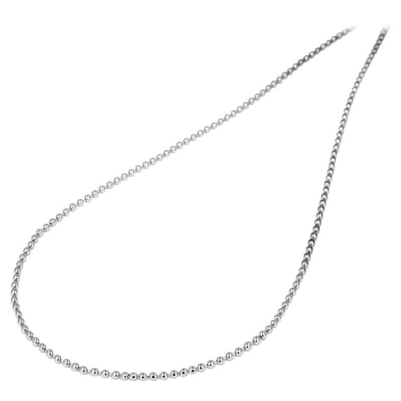 trendor 72269 Halskette für Herrren Edelstahl Kugelkette 50 cm