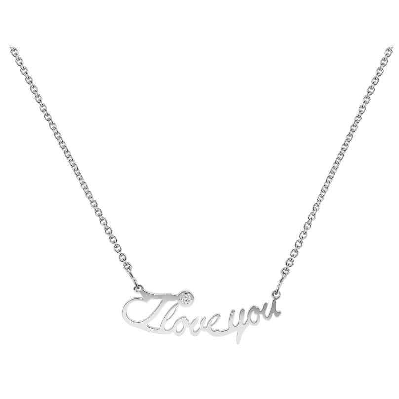 trendor 35962 Damen Silber-Halskette I love you 4260435359623